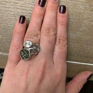 Swarovski stacking rings.  Size 6